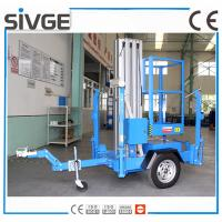 Trailer Type Mobile Work Platform , 6 Meter Aluminum Self Propelled Manlift