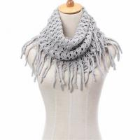 Buy cheap Custom Logo Jacquard Winter Knitted Cotton Scarf , Ladies Knitted Scarves product