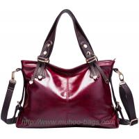 China High Quality Red Leather Handbags for lady (MH-6027) on sale