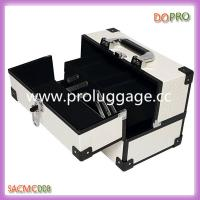 Buy cheap White PU Makeup Vanity Case Hard Side Aluminum Makeup Box (SACMC008) product