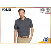 Buy cheap Mature Custom Mens Polo Shirts Grey Color / Pink Color Dri Fit Polo Shirts product