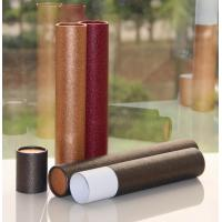 Buy cheap Classical Leather Surface Cardboard Paper Cans Packaging with SGS Certification product