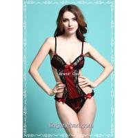 Buy cheap black and red lace teddy sexy underwear product
