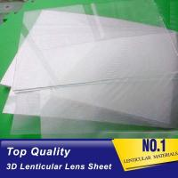 Buy cheap Plastic  Lens PS/PET/PP Material 75/100/161 Lpi 3d lenticular lens sheet lenticular printing films with 3d flip effect product