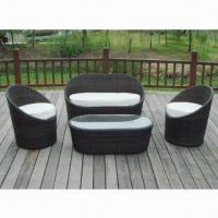Garden Table And Chairs With 4cm Cushion And Tempered