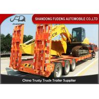 Quality 3 axles 12 tires low bed trailer, 50 ton capacity Mechanical suspension for sale