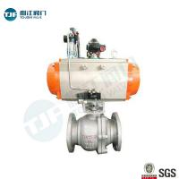 Buy cheap DIN 3357 WCB Industrial Ball Valve With Single Acting Penumatic Actuator product