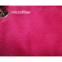 China Microfiber 260gsm Green Colorful 150cm Width  Terry fabric Car Glass Cleaning Cloth on sale