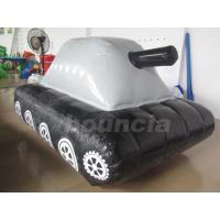 China 0.6mm / 0.9mm PVC Tarpaulin Fabric  Inflatable Military Tank for Paintball Sport on sale