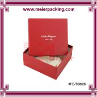 Buy cheap Red square Paper Earring and necklace display box/Handmade Red Square Watch Box Paper  ME-TB026 product