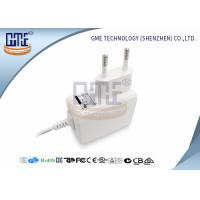 Buy cheap Medical Grade EU Plug Power Adapter 5v 1a , White Medical Switching Adapter product