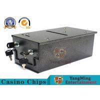 Buy cheap Metallic Iron Material Casino Lockable Cash Box With Two Locks For Tip And Chip Storage product