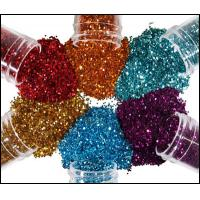 Buy cheap Hexagon Holographic Glitter Powder For Printing Christmas Ball product