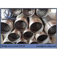 Buy cheap Water Treatment Johnson Screen Wedge Wire Stainless Steel Slot Tube Water Well Screen product