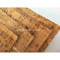 China Colorful Thin Soft Natural Cork Rubber Sheet Roll Synthetic Leather Fabric on sale