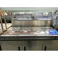 Buy cheap Marble Stainless Steel Catering Equipment Hot Food Unit Standing Bain Marie 1600*900*800+560mm product