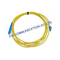 China Simplex Singlemode Fiber Optic Cable Patch Cord For FTTH Systems, Low Insertion Loss on sale