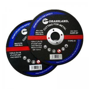 Buy cheap 24# Grit Abrasive Metal 100x1.2x16mm Inox Cutting Discs For Stainless Steel product