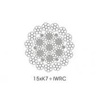 Buy cheap IWRC Core Compacted Wire Rope 15 x K7 with Galvanized  Surface from Wholesalers