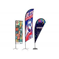Buy cheap Personalised Outdoor Promotional Flags And Banners Advertising Usage BSCI Certification product