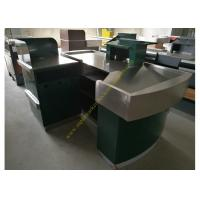 Buy cheap Glossy Stainless Steel Supermarket Checkout Counter / shop cash counter from wholesalers
