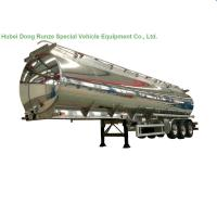 Buy cheap Aluminum Alloy Fuel Tank Semi Trailer 45000L ~50000L With Air Bag Suspension product