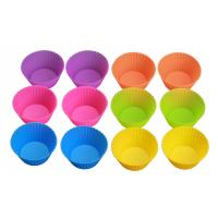 China 12 cups easy falling heat resistant silicone muffin cups cupcake liners FDA LFGB approved on sale