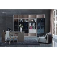 Buy cheap Cheap Apartment room Fashion Home office Furniture Study Computer Reading table and Glass door bookcase with wood Shelve product