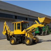China 1600kgs Wheel Loader Tractor / Front Mini Backhoe Loader With Enlarged Operator Cabin on sale