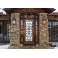 Buy cheap Scroll Work Filled Wrought Iron Glass Door , Single Iron Doors Maintenance Free product