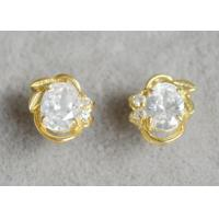 Buy cheap Laurel Crown Sterling Silver Earrings , Custom Fashion Jewelry Zircon Stud Earrings product