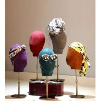Buy cheap Jolly mannequins-Colored fabric cover velvet male dress form mannequin display head- Julian colors01 product