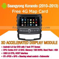 Buy cheap Android Car DVD Player GPS Navigation Wifi 3G for Ssangyong Korando 2010-1013 Bluetooth Touch Screen product