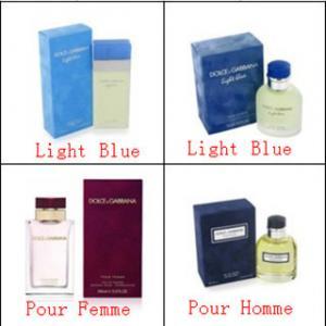 Buy cheap D&G light blue men and women perfume fragrance product