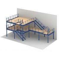 Buy cheap 1 - 2 Levels Heavy Duty Raised Storage Mezzanine Floor For Industrial Storage product