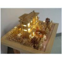 China Architectural Scale Model House,wooden Architectural Models with mini figures on sale