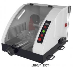 Cortadora metalográfica de UniCut250Y/control de presión baja metalúrgico del equipo