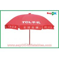 Buy cheap Market Advertising Red Sun Umbrella Waterproof For Promotion 3X3m from wholesalers