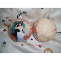 China Christmas ball ornaments,glass decorated ball on sale
