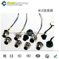 China Right angle M12 5 pin female connector to DB9 male cable on sale