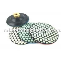 Buy cheap 10 PCS 4 Inch Diamond Polishing Pads Dry With 1 PCS Backer Up Pad product