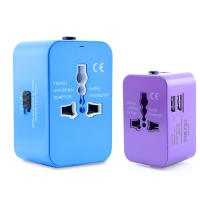 Buy cheap Original Factory UK EU US Power Plugs 2.1A Dual USB Universal travel adapter with universal USB cable set product