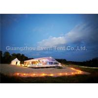 Buy cheap Outdoor Exhibition Clear Span Tent Double PVC Fabric With Glass Door 3.95M Eave Height from Wholesalers