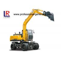 Buy cheap 60kw 2200 rpm Wheel Excavator with 50KN Digging Force , 20Mpa Overdrive Pressure from Wholesalers