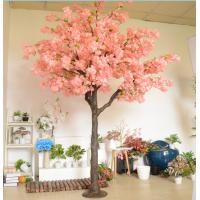 Buy cheap Shopping Mall Fiberglass Trunk Artificial Cherry Blossom Tree Pink , White , Red Color product