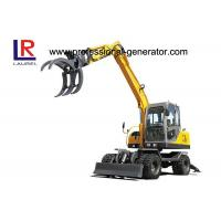 Buy cheap Full Hydraulic Control 0.3CBM 8.3 Ton Mini Wheeled Excavator With Sugarcane Grapple from Wholesalers