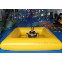 Buy cheap 0.9 MM Pvc Tarpaulin Blue / Yellow Inflatable Swimming Pools Portable Above Ground product