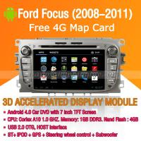 Buy cheap Android Car DVD Player GPS Navigation Wifi 3G for Ford Focus 2008-2011 Bluetooth Touch Screen product