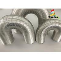 Quality Aeration System Semi Rigid Vent Aluminum Duct Pipe Eco - Friendly For Ventilation for sale