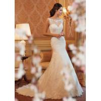 Buy cheap White A Line Style Wedding Dresses / Custom Made Ivory Lace Wedding Dress product